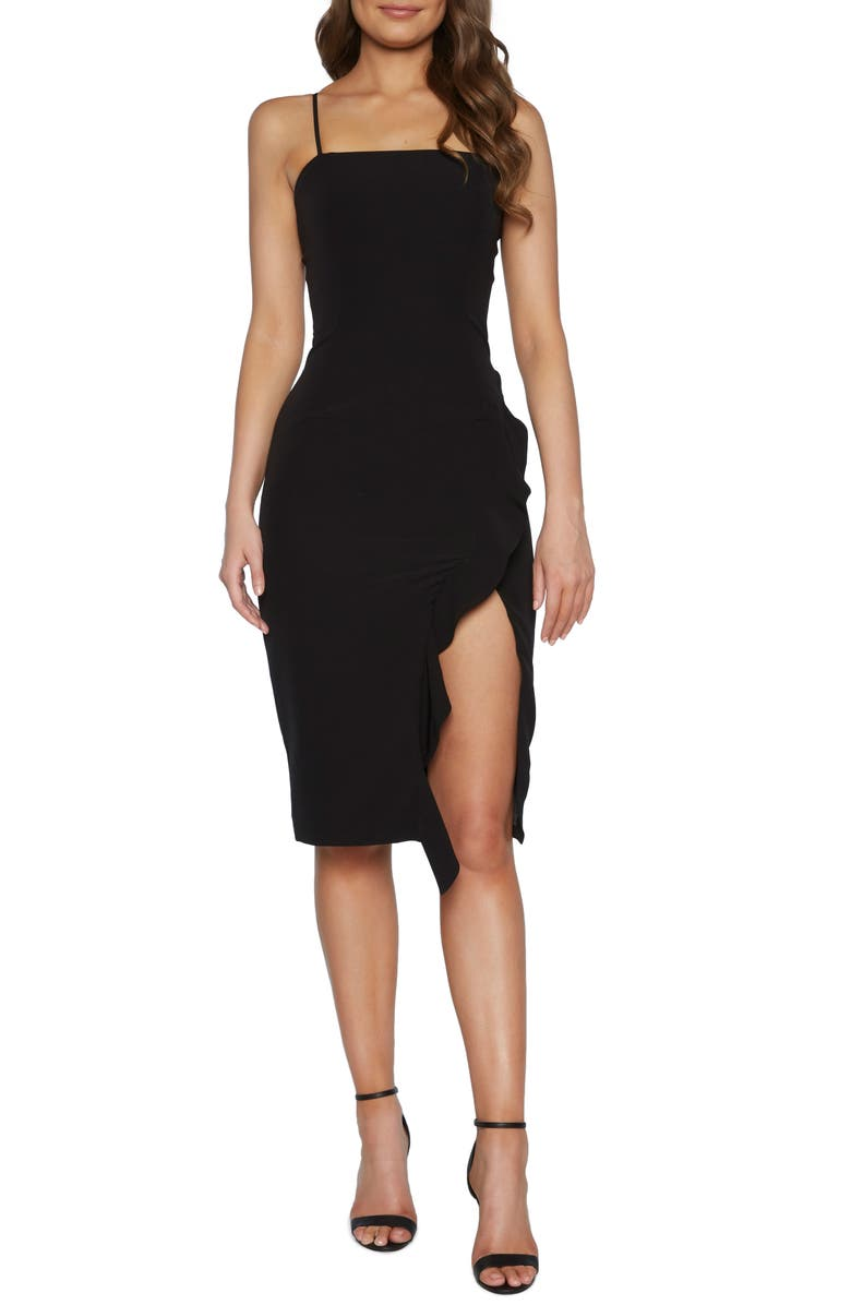 BARDOT Carmelle Cocktail Dress, Main, color, BLACK