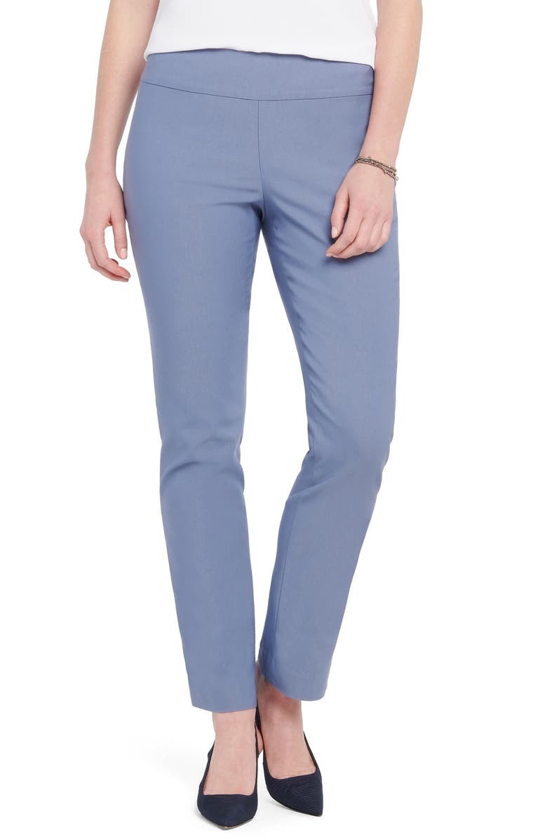 NIC+ZOE Wonderstretch Straight Leg Pants, Main, color, DUSTY TWILIGHT