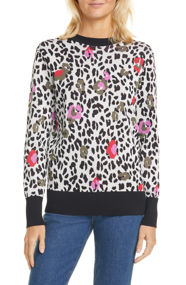 TED BAKER LONDON Ceesee Wilderness Jacquard Sweater, Main, color, DUSKY PINK