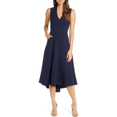 Eliza J High/low Fit & Flare Dress, 8 (similar to 1) - Blue
