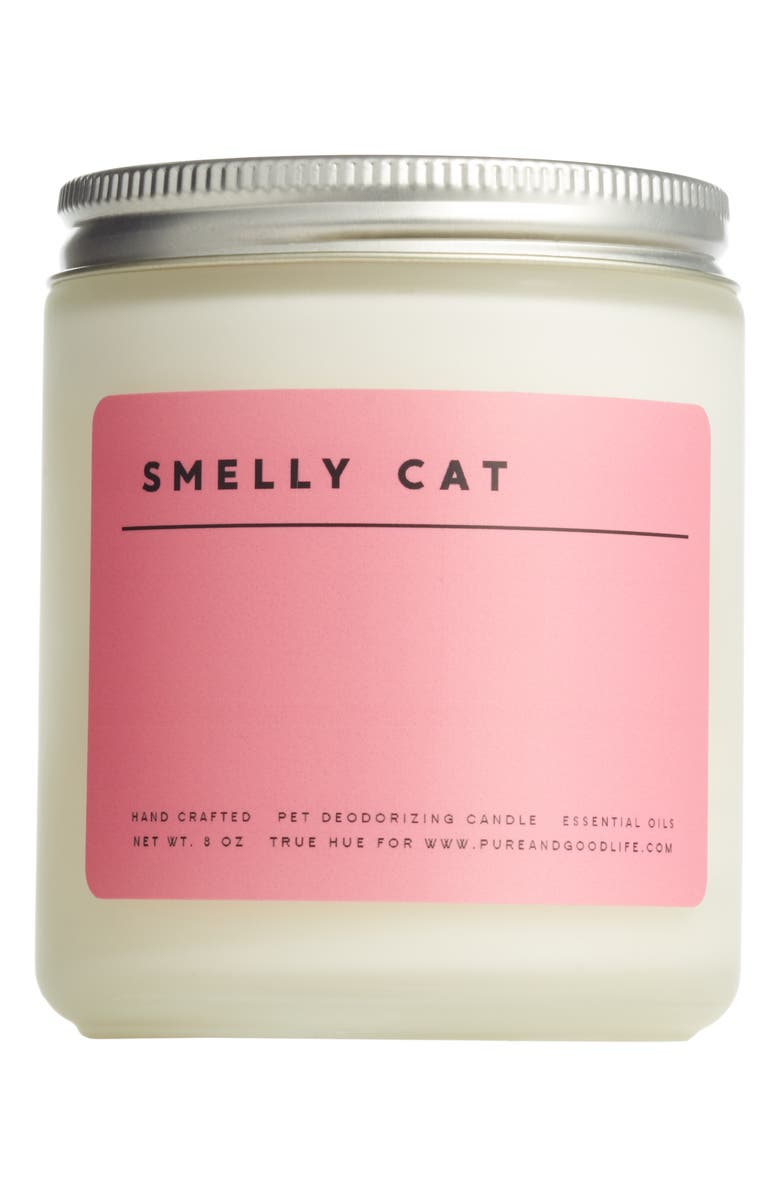 PURE AND GOOD Pure + Good Smelly Cat Pet Deodorizing Soy Wax Candle, Main, color, 650