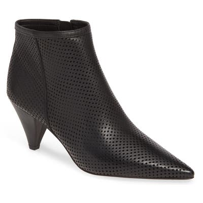 Sarto By Franco Sarto Bobbi Perforated Pointy Toe Bootie- Black