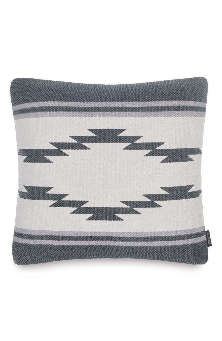 PENDLETON Storm Breaker Accent Pillow, Main, color, CHARCOAL