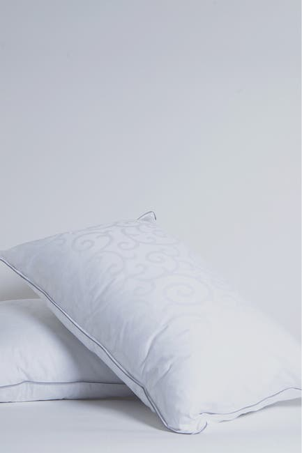 Image of Allied Home Candice Olson Standard Cotton Jacquard Allergy Free Gel Fiber Pillow with Removable Cover