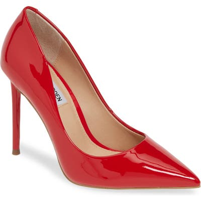Steve Madden Vala Pointy Toe Pump- Red