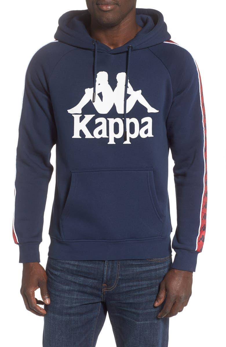 KAPPA Banda Graphic Hoodie, Main, color, NAVY