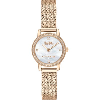 Coach Audrey Pave Mesh Band Watch, 22Mm
