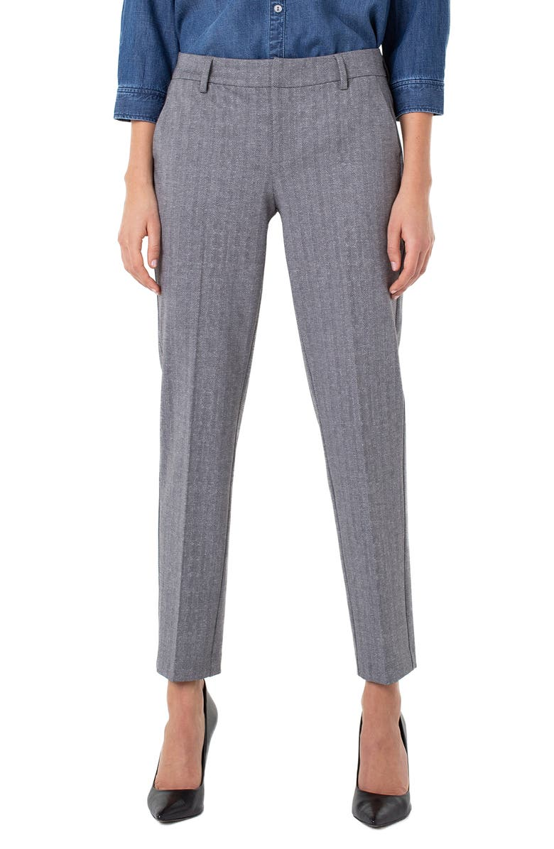 LIVERPOOL Kelsey Knit Trousers, Main, color, GREY/ BLACK