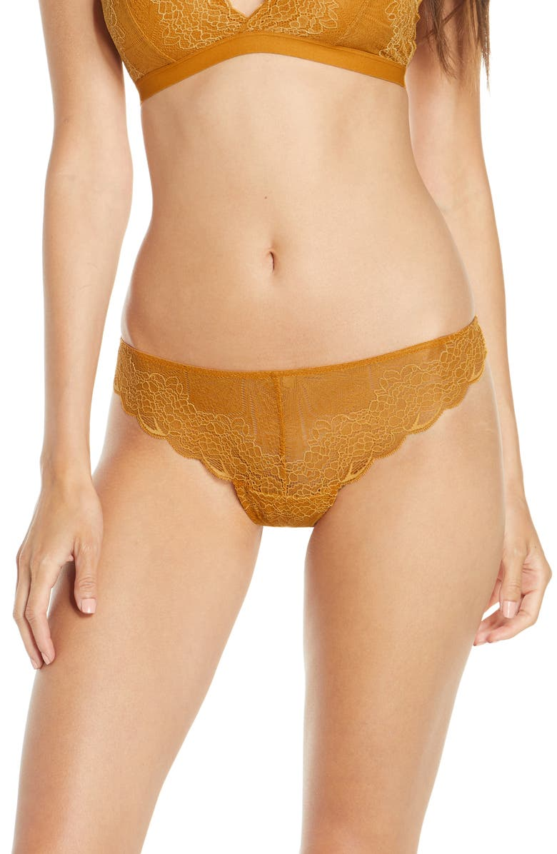 MADEWELL Lace Tanga, Main, color, RICH AMBER