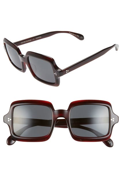 Image of Oliver Peoples Avri Polarized 50mm Square Sunglasses