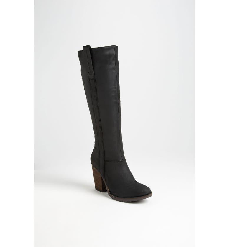 STEVE MADDEN 'Raingerr' Boot, Main, color, BLACK LEATHER