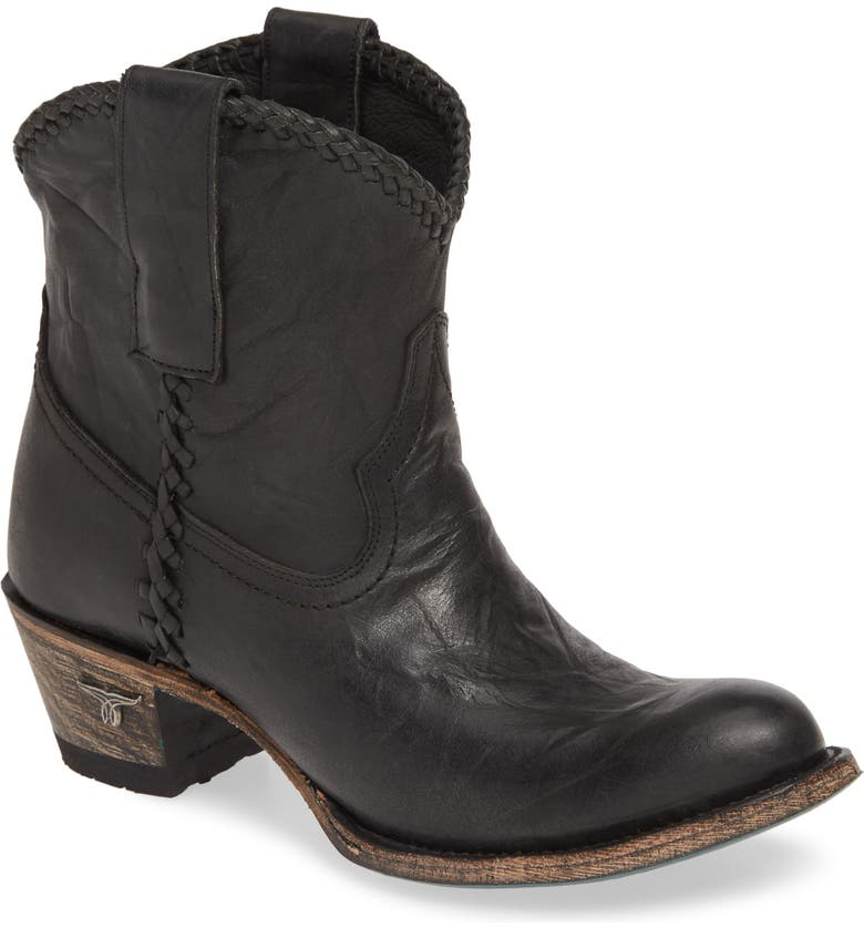LANE BOOTS Plain Jane Western Boot, Main, color, BLACK LEATHER