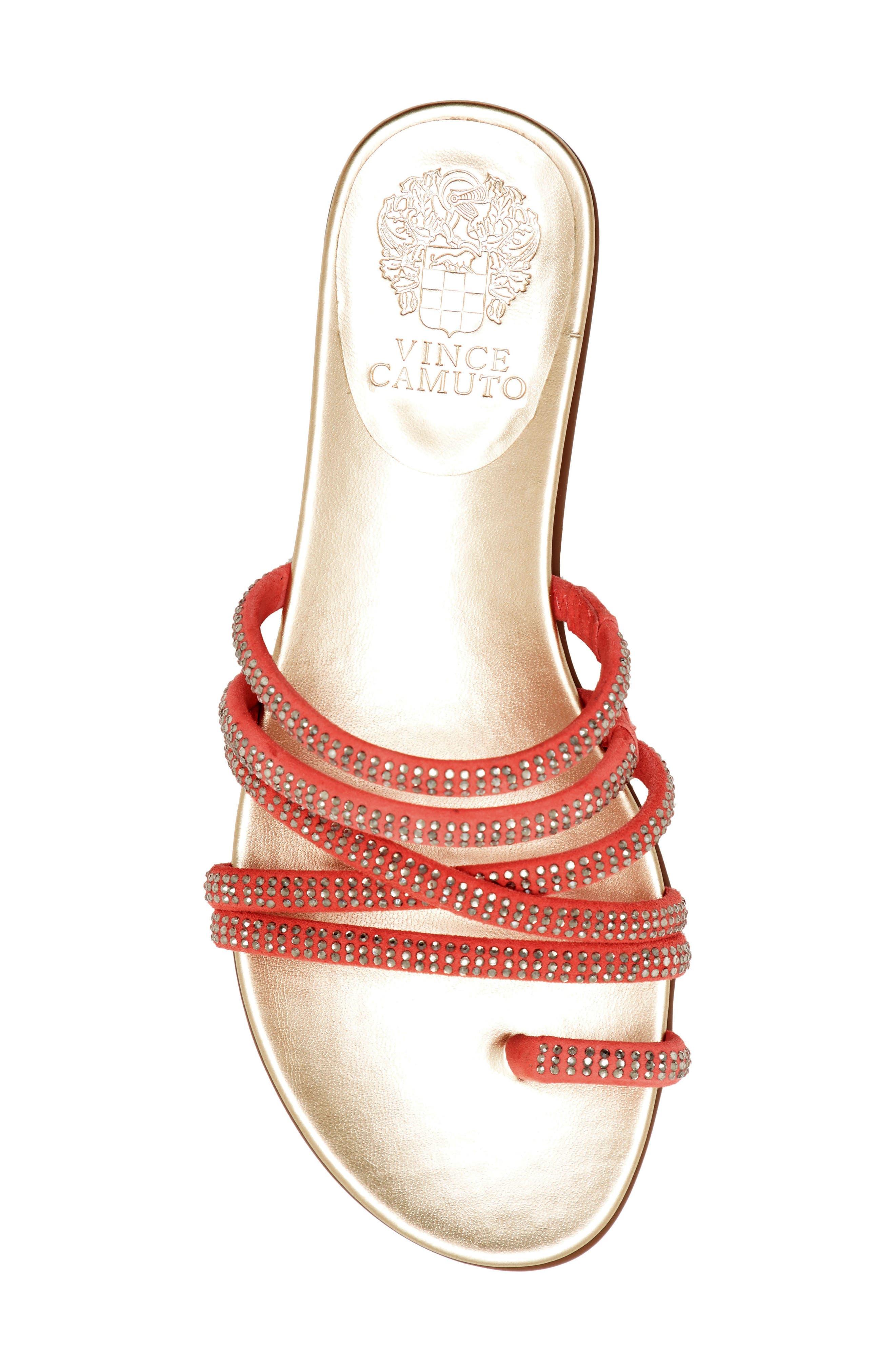 Vince Camuto Slippers Ezzina Crystal Embellished Slide Sandal
