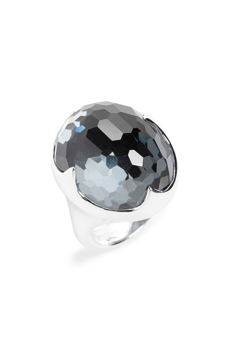 IPPOLITA Rock Candy Ring, Main, color, HEMATITE