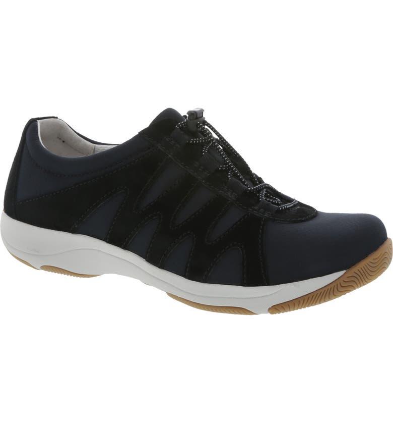 DANSKO Harlie Sneaker, Main, color, BLACK SUEDE