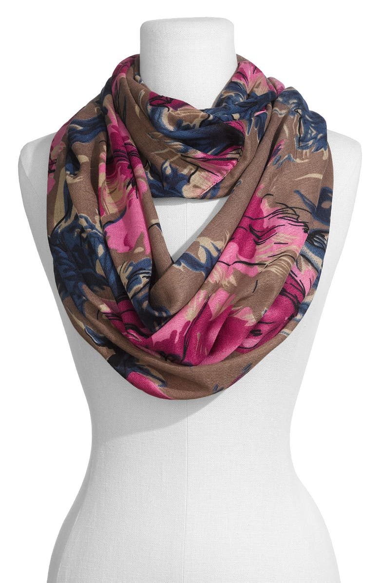 LULU 'Cabbage Rose' Infinity Scarf, Main, color, 200