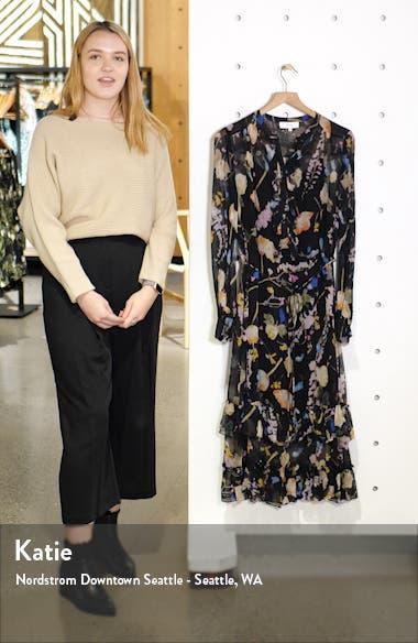 Sadie Romantic Floral Long Sleeve Midi Dress, sales video thumbnail