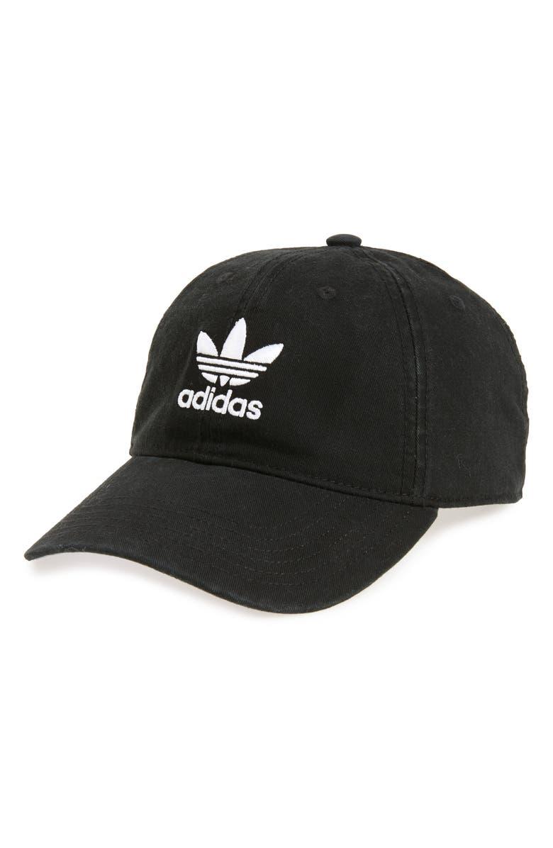 ADIDAS ORIGINALS Relaxed Baseball Cap, Main, color, BLACK/ WHITE