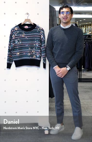 embellished merino wool & cashmere fair isle sweater, sales video thumbnail