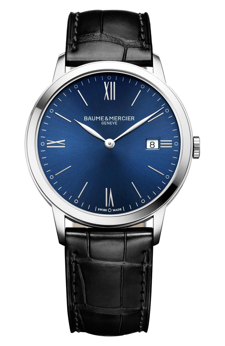Baume Mercier Classima Leather Strap Watch 40mm
