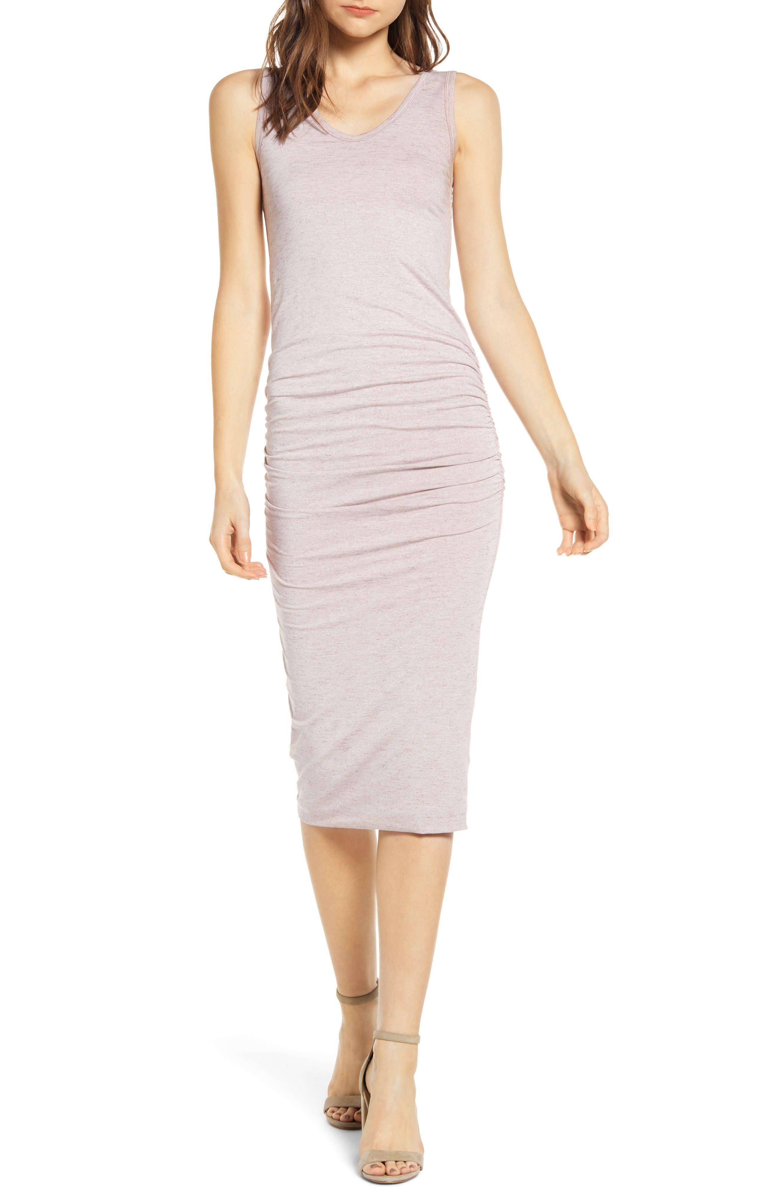 Bishop + Young Alba Bodycon Midi Dress, Purple