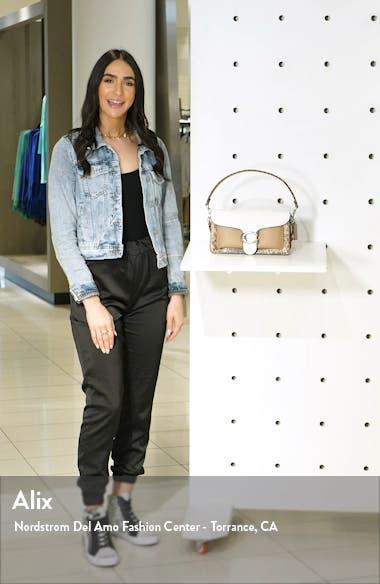 Tabby Leather & Genuine Snakeskin Shoulder Bag, sales video thumbnail