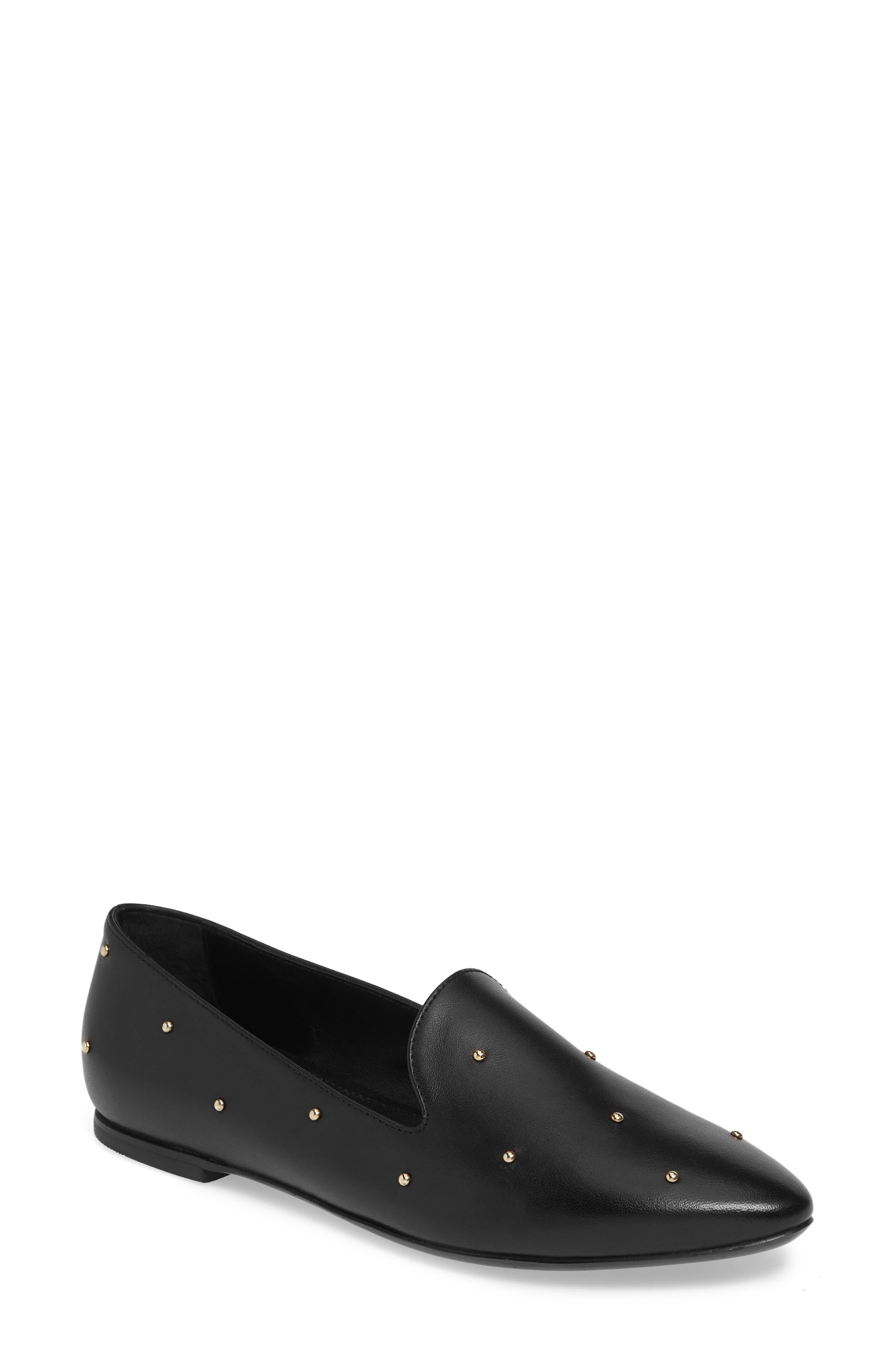 Agl Studded Loafer, Black