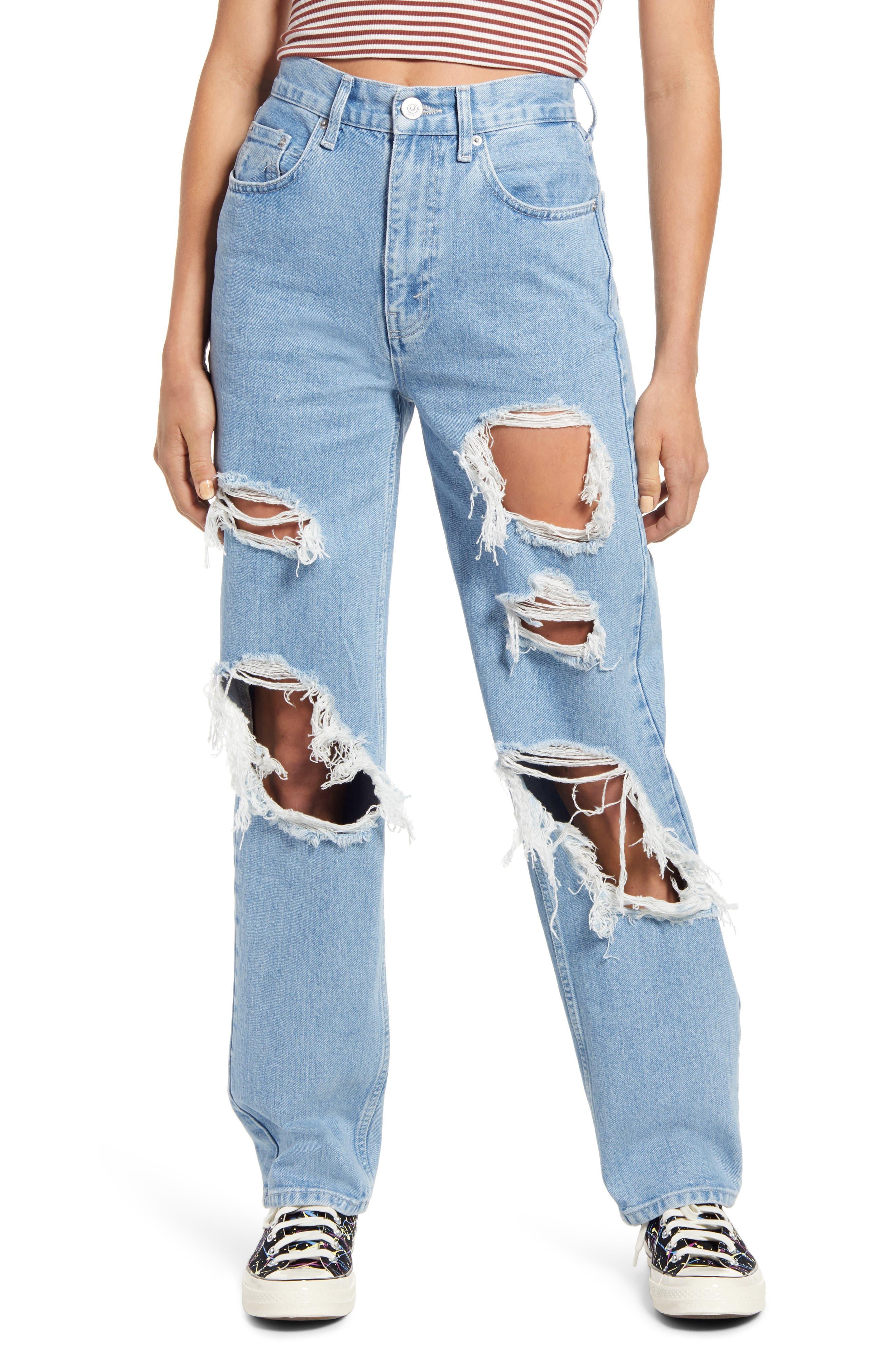 Extreme Destroyed High Waist Nonstretch Boyfriend Jeans