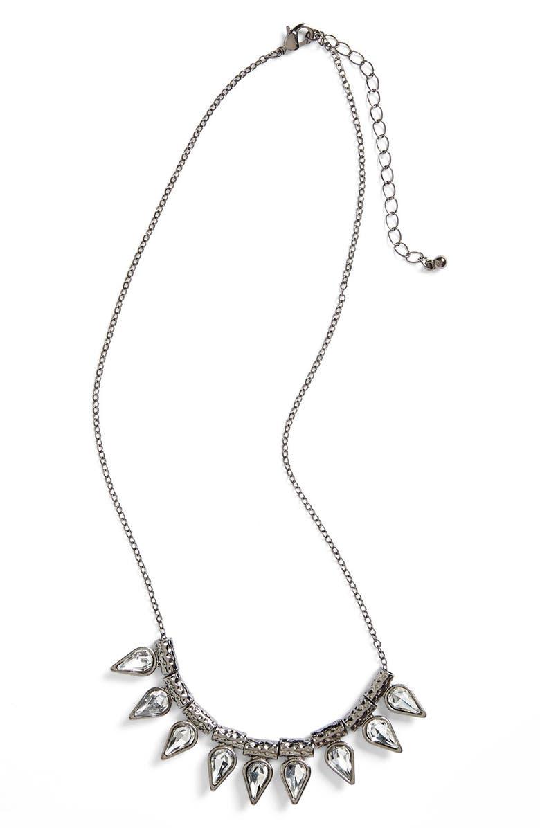 BP. Teardrop Stone Necklace, Main, color, 001