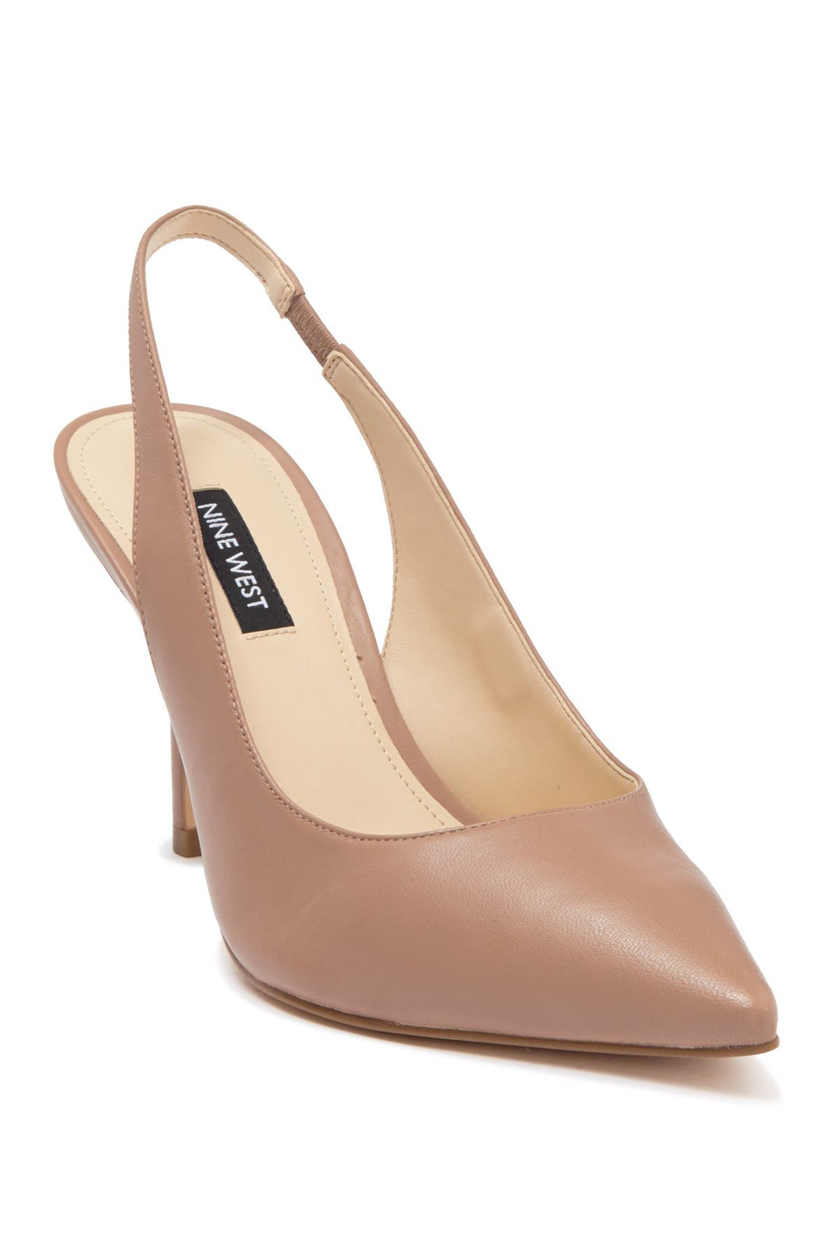 Image of Nine West Holly Leather Pointed Toe Slingback Pump