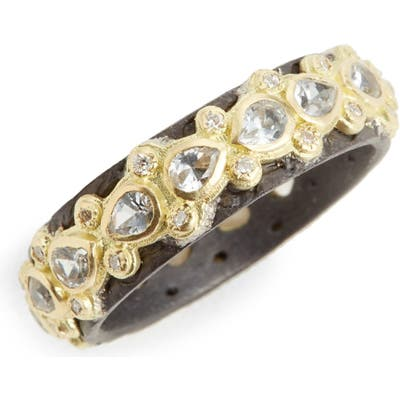 Armenta Old World Lacy Eternity Diamond & Sapphire Ring