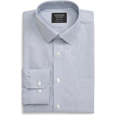 Nordstrom Shop Smartcare(TM) Trim Fit Stripe Dress Shirt - Blue