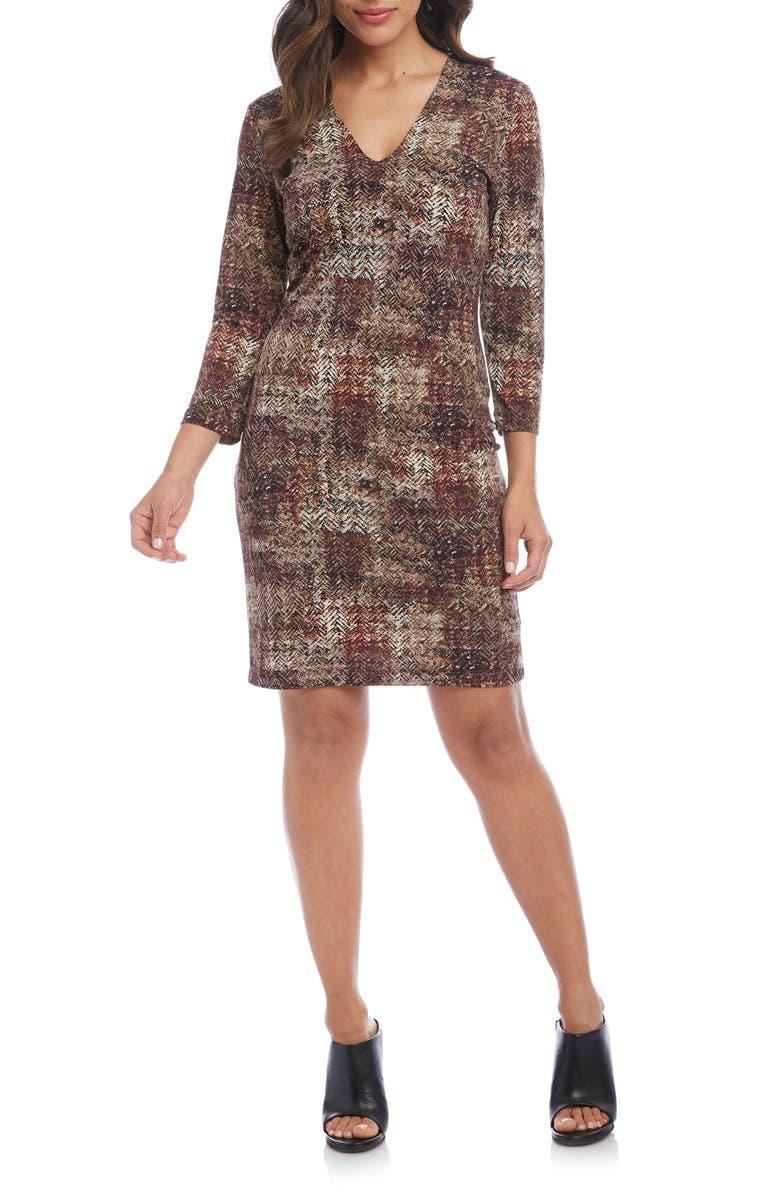 KAREN KANE Print Sheath Dress, Main, color, PRINT