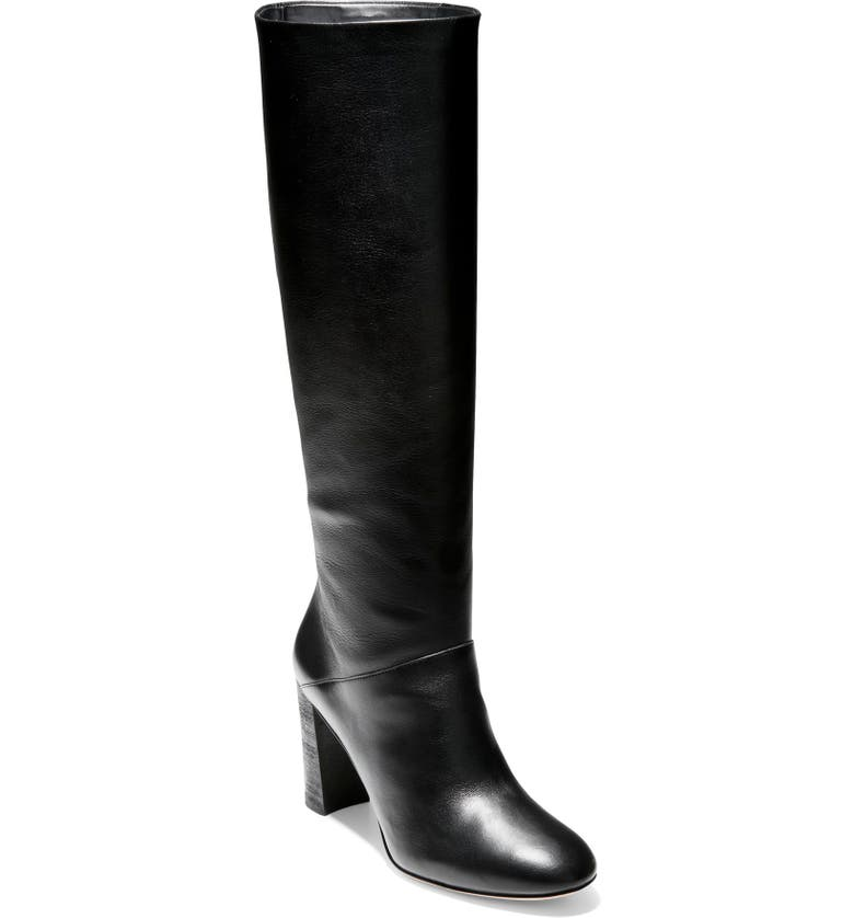 COLE HAAN Perfect Pairs Glenda Knee High Boot, Main, color, BLACK LEATHER