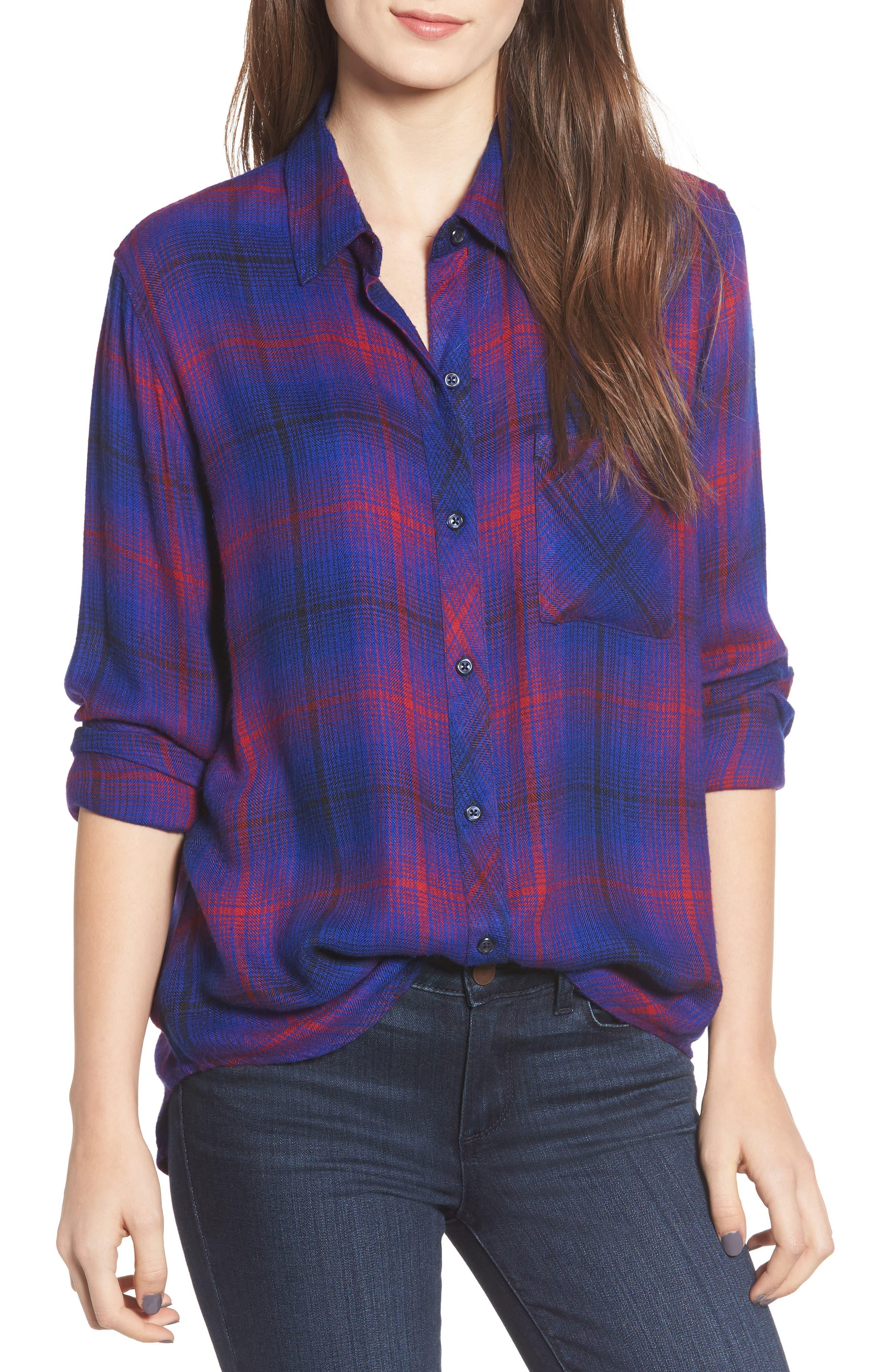 ,                             Hunter Plaid Shirt,                             Main thumbnail 308, color,                             408