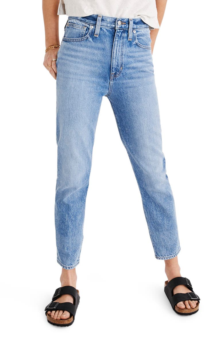 MADEWELL The Momjean High Waist Jeans, Main, color, MELVA