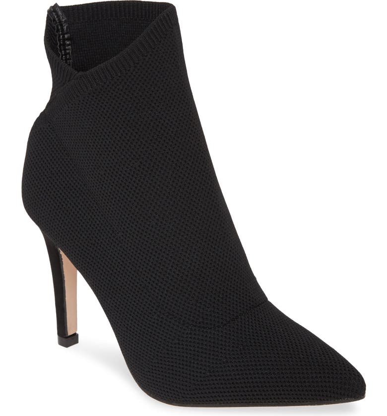 MIA Margerie Knit Bootie, Main, color, BLACK FABRIC
