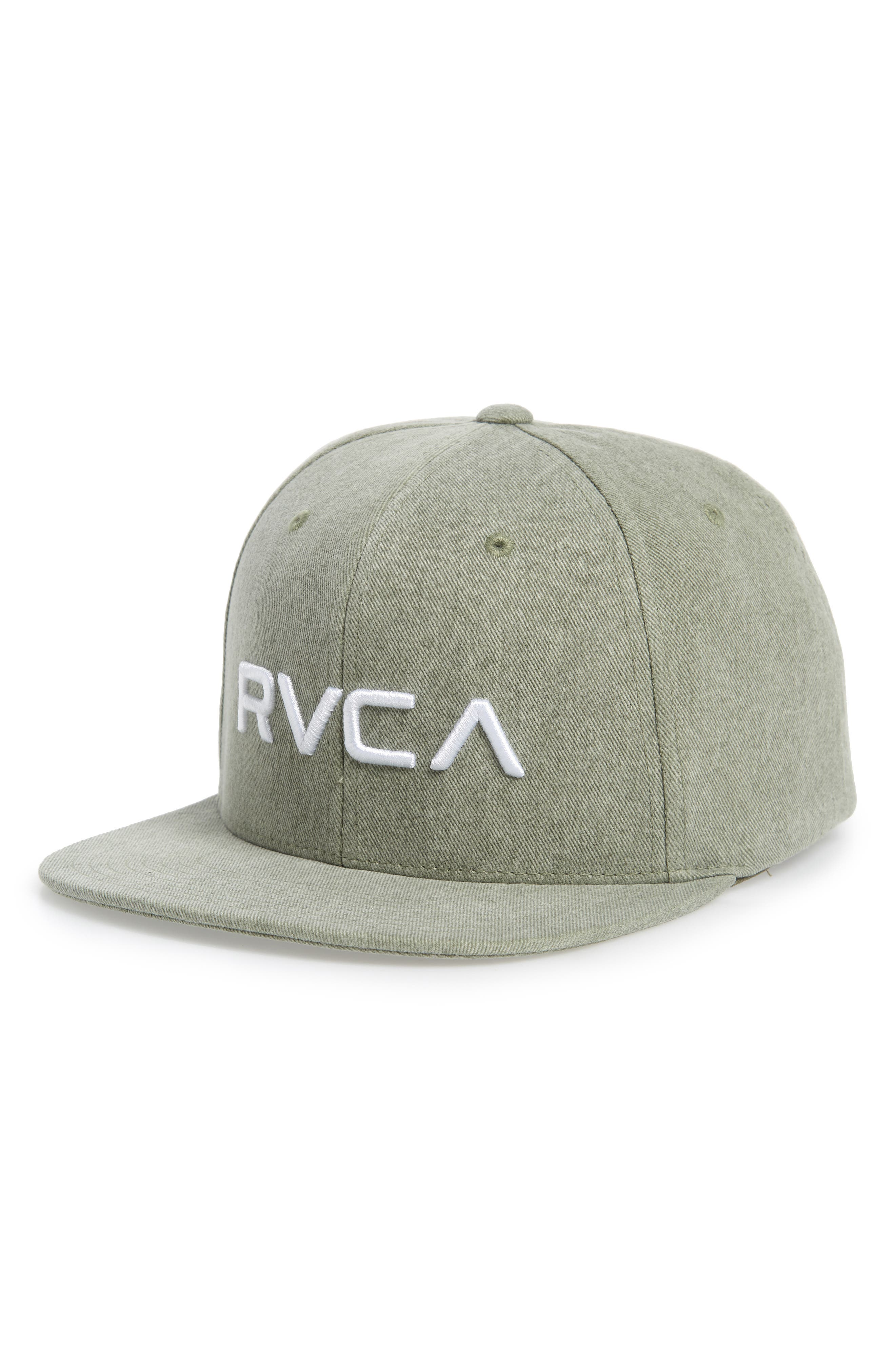 Twill Snapback Baseball Cap, Main, color, OLIVE GREEN