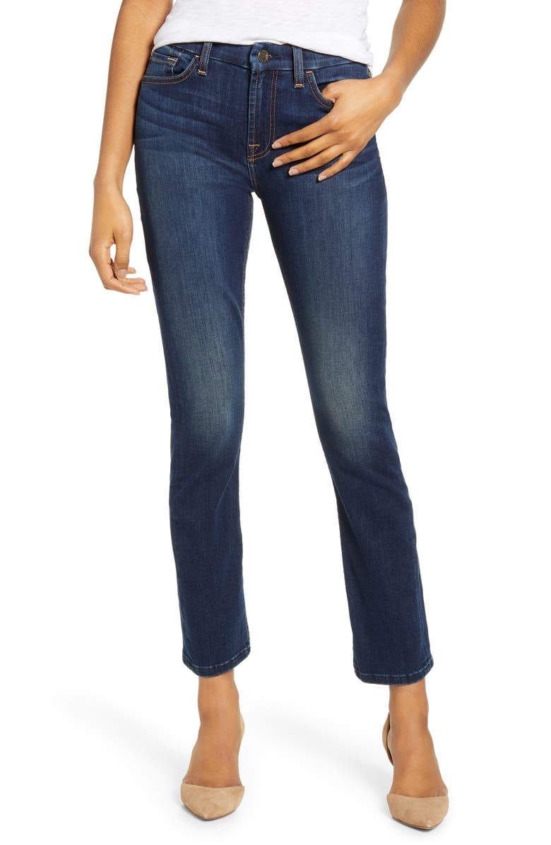 JEN7 BY 7 FOR ALL MANKIND Ankle Straight Leg Jeans, Main, color, 400