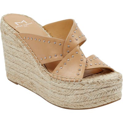 Marc Fisher Ltd Angelina Espadrille Wedge- Brown