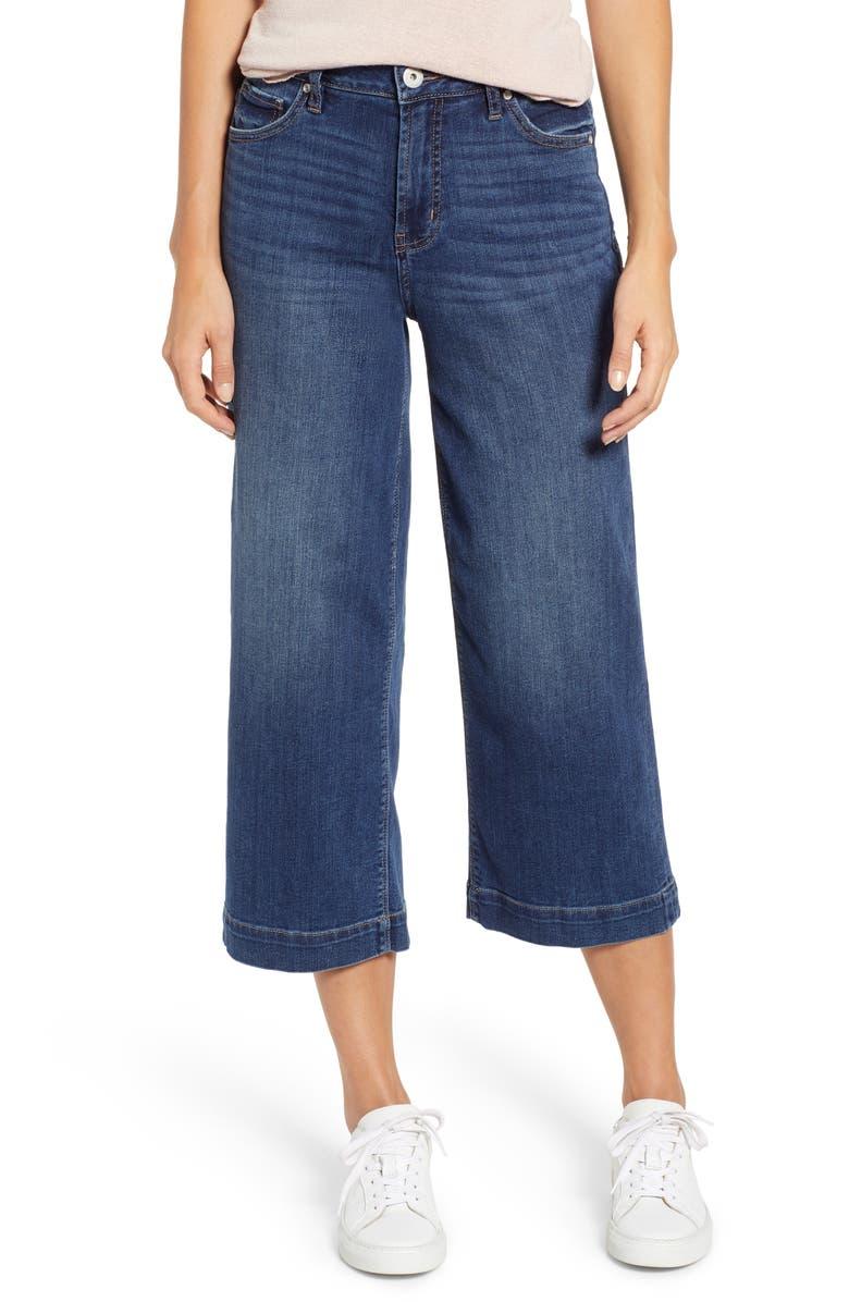 JAG JEANS Lydia High Waist Wide Leg Crop Jeans, Main, color, BRILLIANT