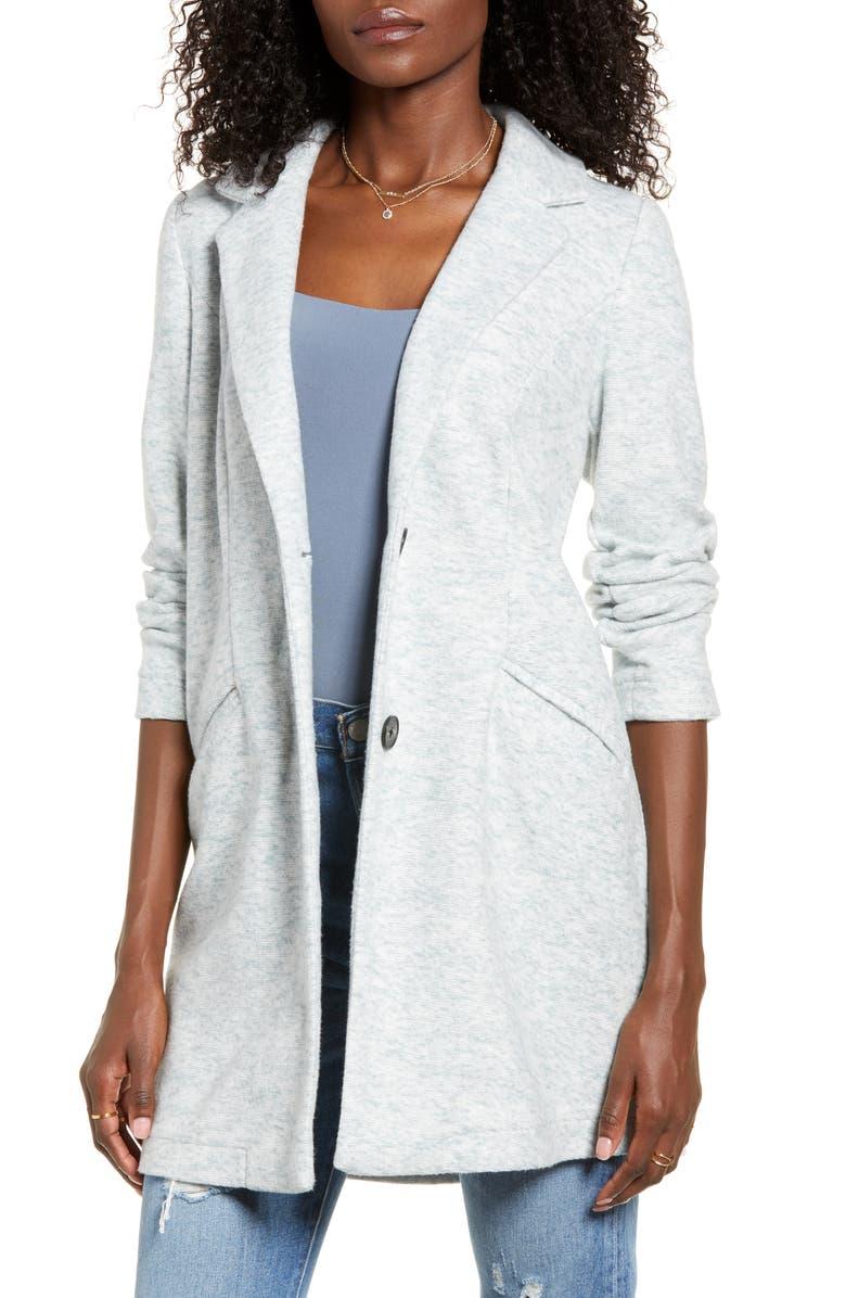 VERO MODA Marble Bella Knit Jacket, Main, color, SLATE