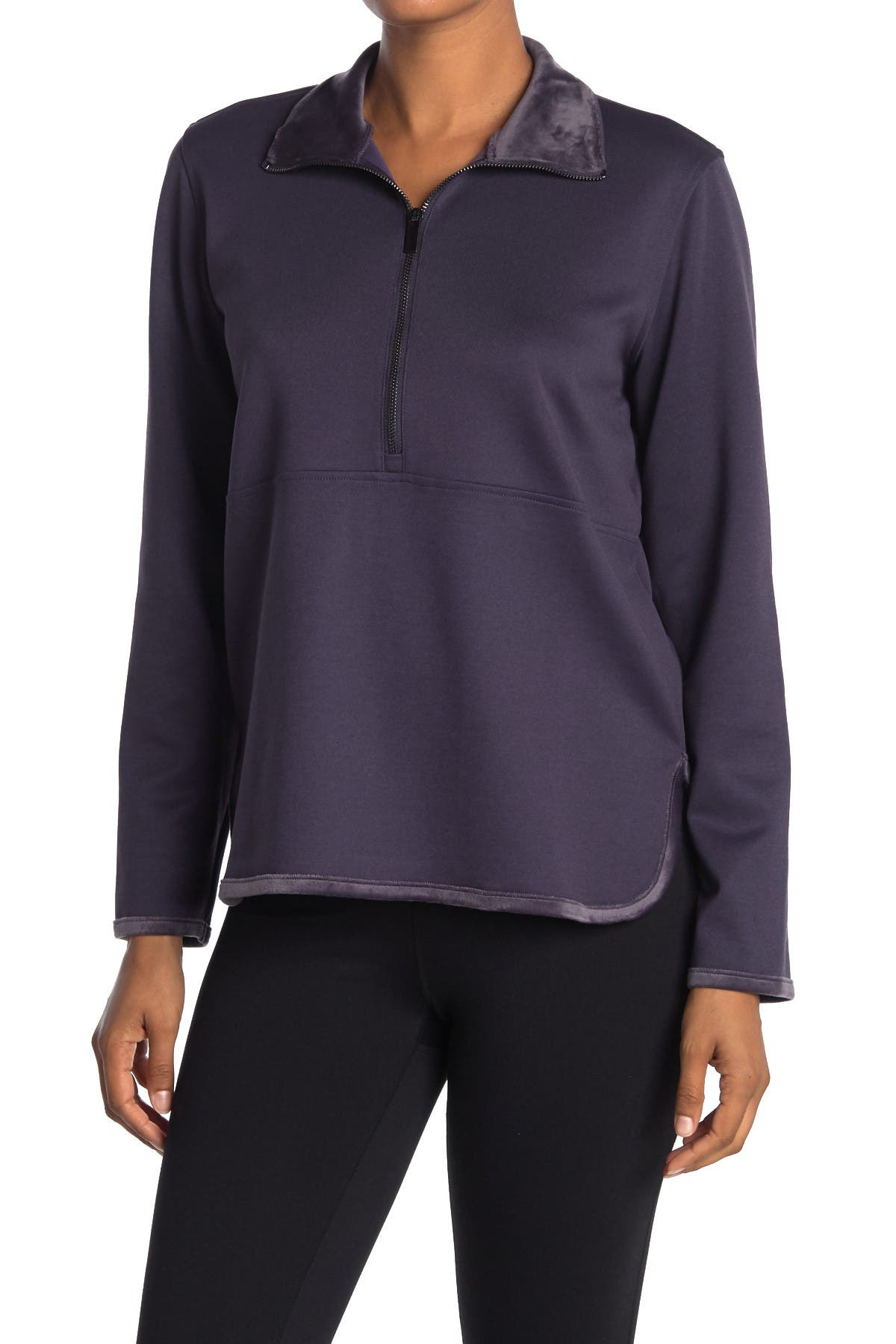 Image of New Balance Determination Luxe Layer 1/4 Zip Pullover