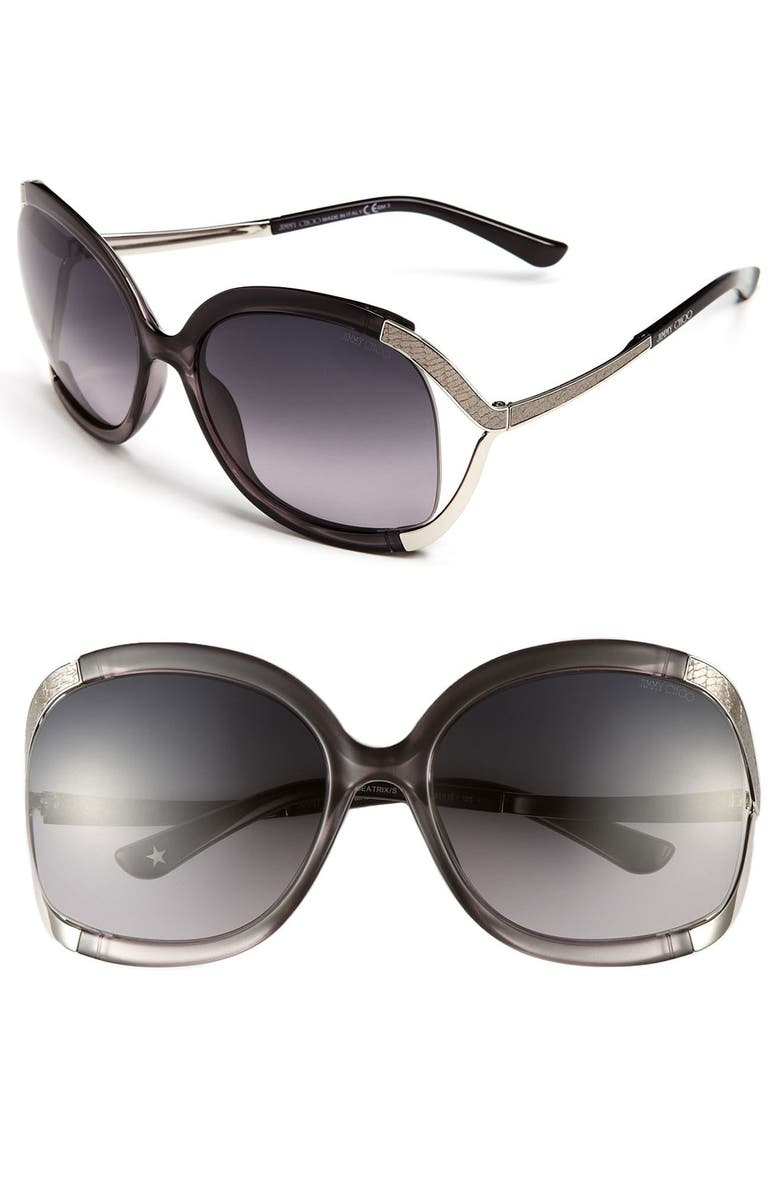 JIMMY CHOO 'Beatrix' 61mm Sunglasses, Main, color, 020