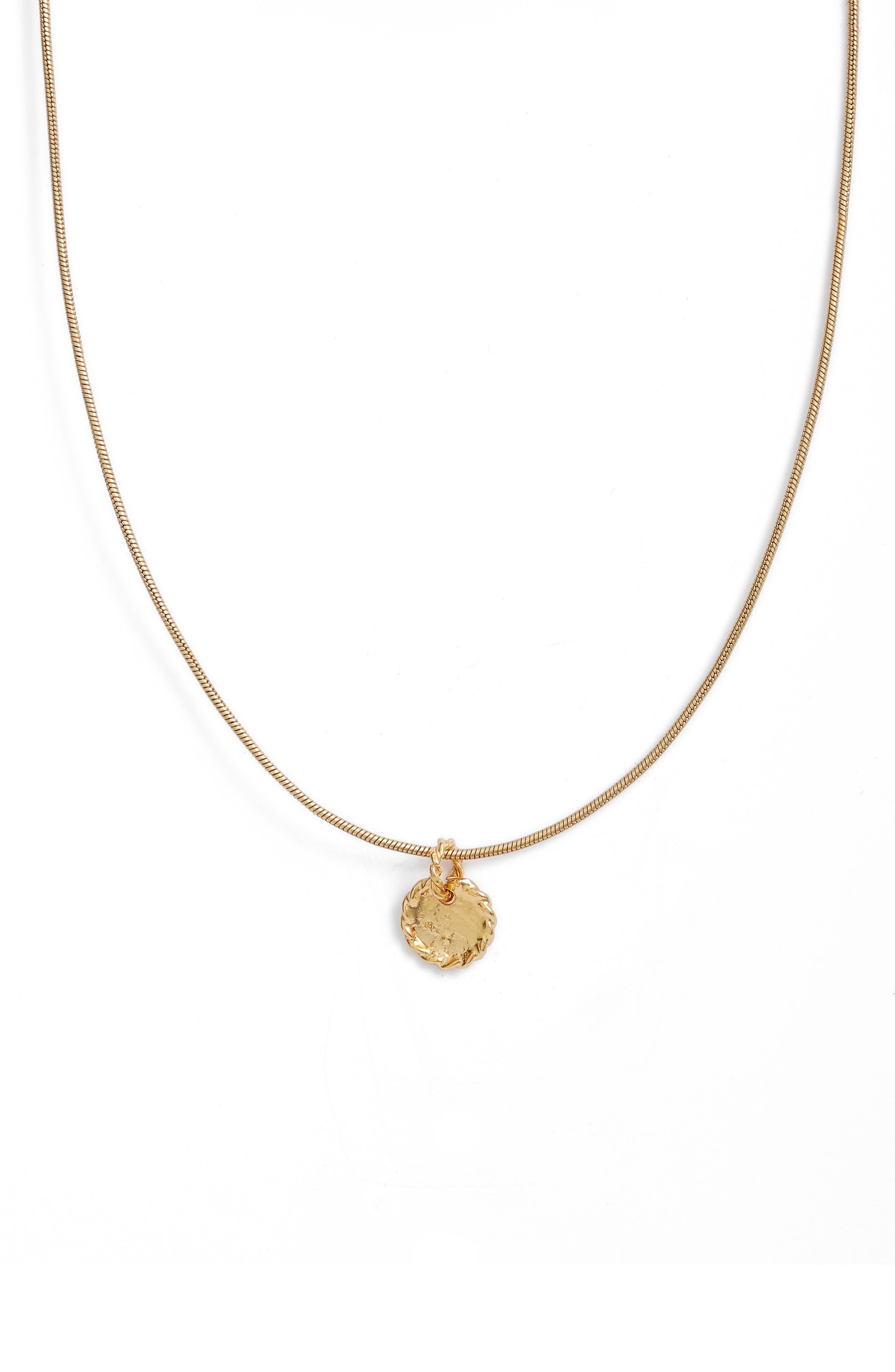 Crisobela Jewelry La Maga Morena Coin Pendant Necklace in Gold at Nordstrom