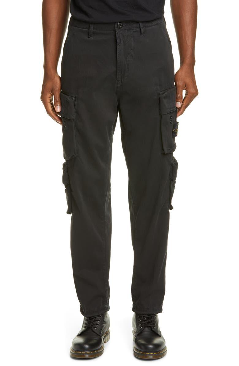 STONE ISLAND Regular Fit Cargo Pants, Main, color, 001