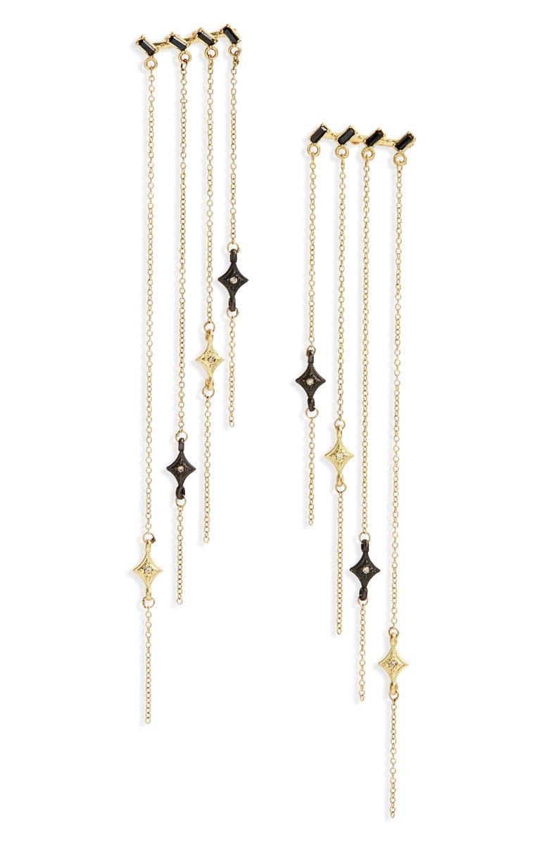 ARMENTA Old World Sapphire & Diamond Chandelier Earrings, Main, color, GOLD