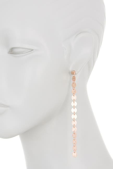 Image of Rivka Friedman 18K Gold Clad Satin Mini Disc Drop Earrings
