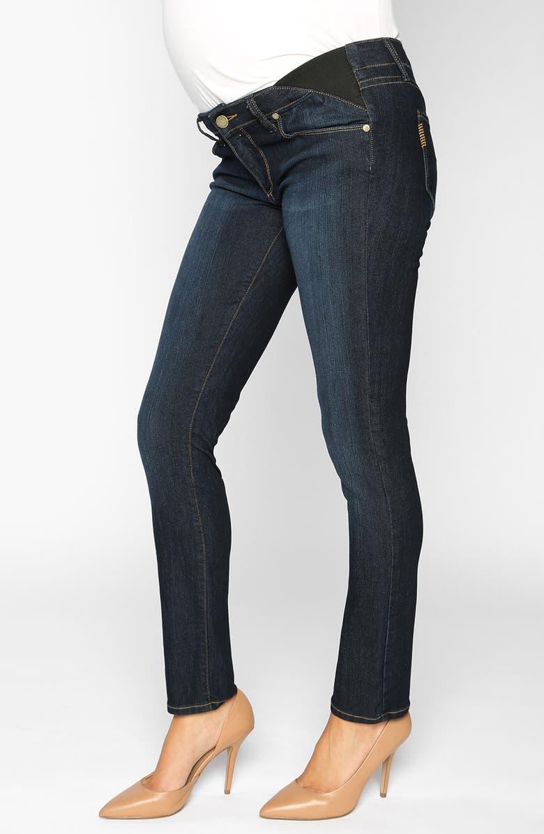 PAIGE Denim 'Skyline' Maternity Skinny Jeans, Main, color, 400