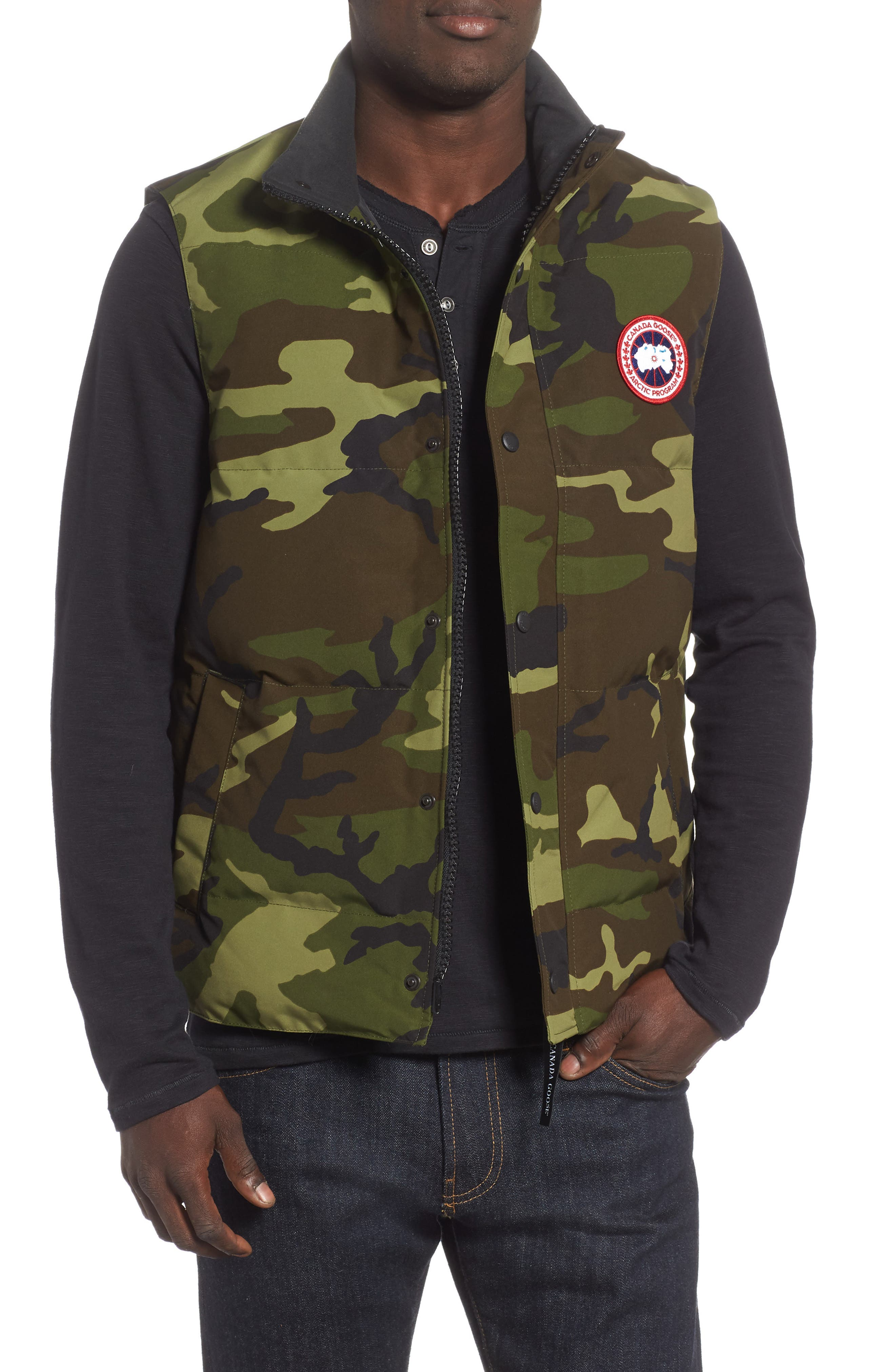 Canada Goose Garson Regular Fit Quilted Down Vest, Green